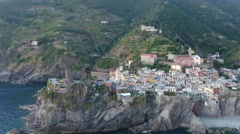 Italy Sunset at Vernazza Cinque Terre Stock Footage