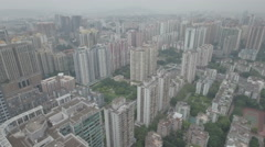 Aerial view of modern luxurious apartment buildings in Guangzhou, China Stock Footage