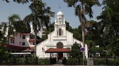 Orchard Road Presbyterian Church Singapore Stock Footage