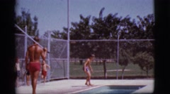 1968: kids learning how to swim COTTONWOOD, ARIZONA Stock Footage