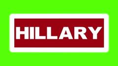 USA election rotating green screen sign TRUMP HILLARY loop Stock Footage