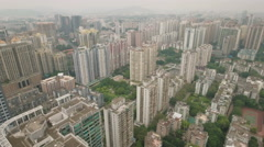 Aerial shot of modern luxurious apartment towers in Guangzhou, China Stock Footage
