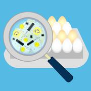 Eggs with bacteria Stock Illustration