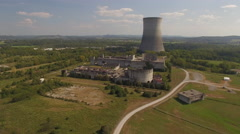 Abandoned Nuclear Power Plant Stock Footage