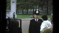 1969: police officer talking to a woman IRELAND Stock Footage