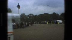 1969: the british royal guard goes on parade before a crowd IRELAND Stock Footage