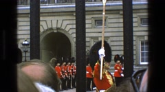 1969: guards watched carefully by the people as they perform their duties. Stock Footage