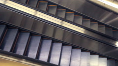 Escalator in building Stock Footage