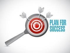 Plan for success target review concept Stock Illustration