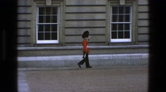 1969: british security walking down the street IRELAND Stock Footage
