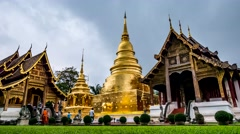 Time lapse Phra Singh temple. Stock Footage
