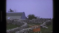 1969: farm contractions IRELAND Stock Footage