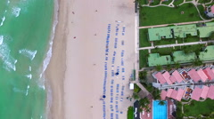 Aerial footage beach front property Stock Footage