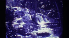 1971: relaxing in nature watching a waterfall in the woods HAWAII Stock Footage