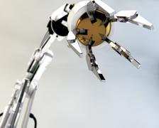 CG robot arm Stock Photos