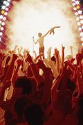 Audience enjoying live concert Kuvituskuvat