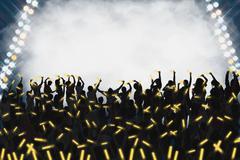 Audience enjoying live concert Stock Photos