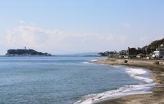 Sea in Enoshima, Kanagawa Prefecture, Japan Stock Photos