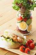 Jar salad Stock Photos