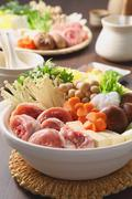 Japanese style casserole Stock Photos