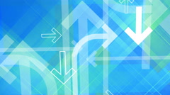Arrows background. Loop between 6 seconds to 41 seconds. Blue, green, white. Stock Footage
