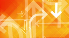 Arrows background. Loop between 6 seconds to 41 seconds. Yellow, orange, white. Stock Footage