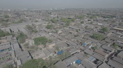 Aerial shot of classic Chinese hutong style buildings in historic city Stock Footage