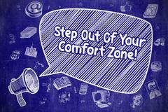 Step Out Of Your Comfort Zone - Business Concept Stock Illustration