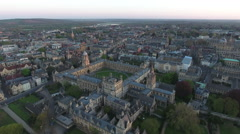 Flying Over Oxford University England Stock Footage