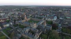Flying Over Oxford University England Arkistovideo