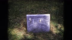 1953: grave of an old man MILWAUKEE, WISCONSIN Stock Footage