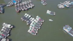 Fishing vessels in Sanya, a strategic city on Hainan island, South China Sea Stock Footage