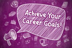 Achieve Your Career Goals - Business Concept Stock Illustration