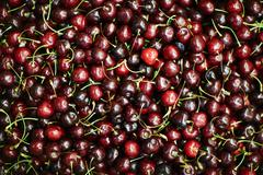 Background of appetizing cherries Stock Photos