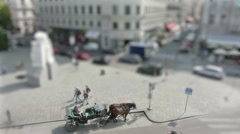A view of a street in the center of Vienna Stock Footage