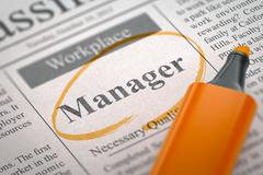 We are Hiring Manager. 3D Stock Illustration