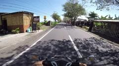 Trip to Bali on a Motorbike Stock Footage