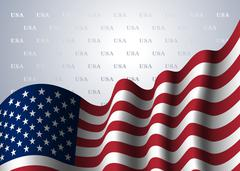 American flag background Piirros
