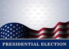 American flag background Presidential Election Stock Illustration