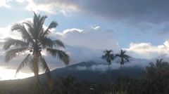 Volcano in the Clouds After the Rain Stock Footage