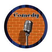 Comedy Mic Circle Piirros