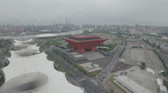 Aerial view of former Expo site in Shanghai Arkistovideo