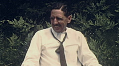 USA 1944: portrait of a man Stock Footage