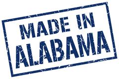 Made in Alabama stamp Stock Illustration