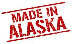 Made in Alaska stamp Stock Illustration