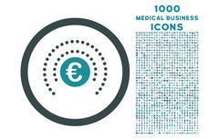 Euro Financial Sphere Shield Rounded Icon with 1000 Bonus Icons Stock Illustration