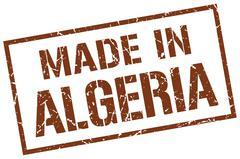 Made in Algeria stamp Stock Illustration