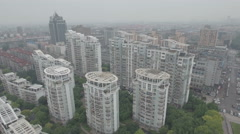 Aerial shot suburban high-rise apartment buildings in Shanghai, China Arkistovideo