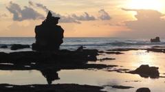 Sunset on the Ocean Stock Footage