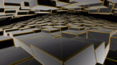Black Cubes deforming Stock Footage